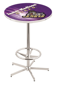 "James Madison L216 - 42"" Chrome Pub Table by Holland Bar Stool Co."