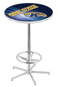 "Kent State L216 - 42"" Chrome Pub Table by Holland Bar Stool Co."