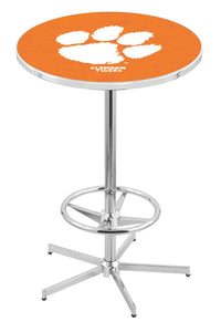 "Clemson L216 - 42"" Chrome Pub Table by Holland Bar Stool Co."