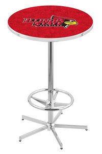 "Illinois State L216 - 42"" Chrome Pub Table by Holland Bar Stool Co."