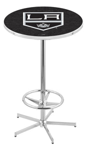 "Los Angeles Kings L216 - 42"" Chrome Pub Table by Holland Bar Stool Co."