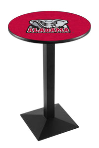 Alabama (Elephant) L217 - Black Wrinkle Pub Table by Holland Bar Stool Co.