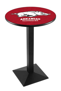 Arkansas L217 - Black Wrinkle Pub Table by Holland Bar Stool Co.