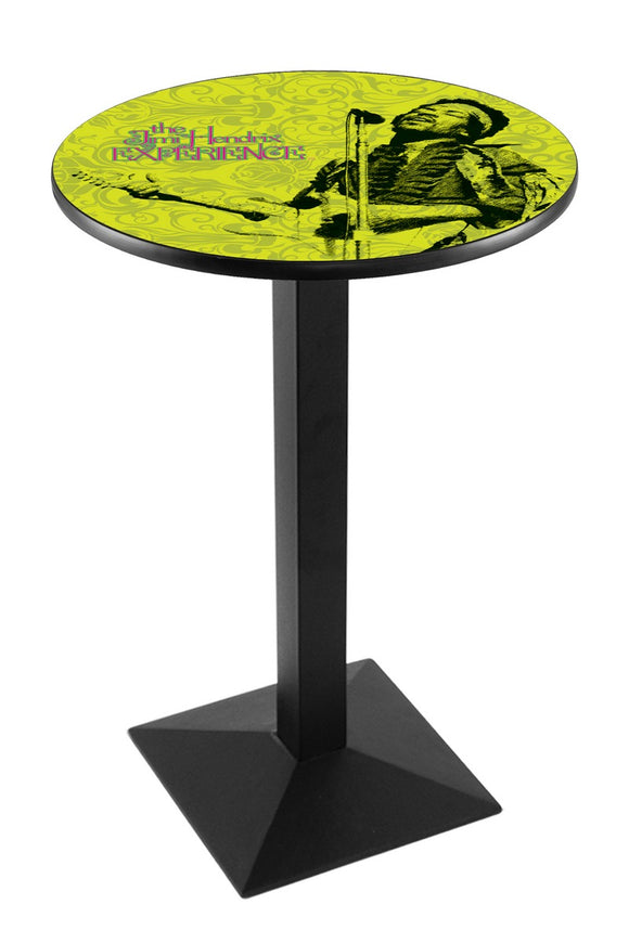 Jimi Hendrix - JHE (Green) L217 - Black Wrinkle Pub Table by Holland Bar Stool Co.