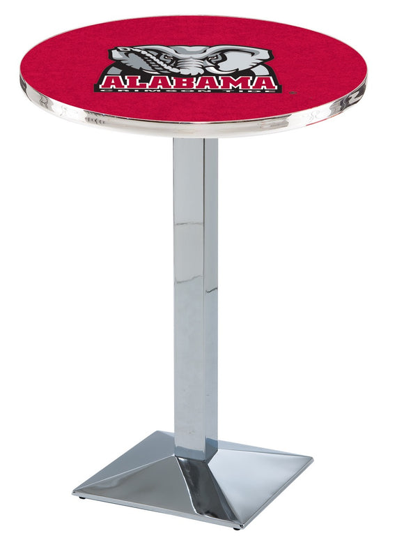 Alabama (Elephant) L217 - Chrome Pub Table by Holland Bar Stool Co.