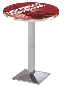 Arkansas L217 - Chrome Pub Table by Holland Bar Stool Co.