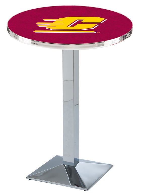Central Michigan L217 - Chrome Pub Table by Holland Bar Stool Co.