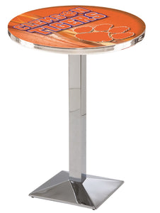 Clemson L217 - Chrome Pub Table by Holland Bar Stool Co.