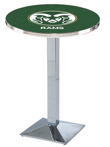 Colorado State L217 - Chrome Pub Table by Holland Bar Stool Co.