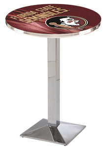 Florida State (Head) L217 - Chrome Pub Table by Holland Bar Stool Co.