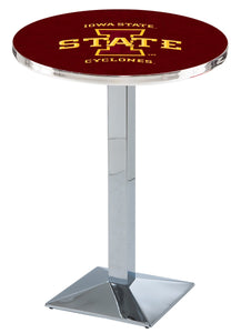Iowa State L217 - Chrome Pub Table by Holland Bar Stool Co.