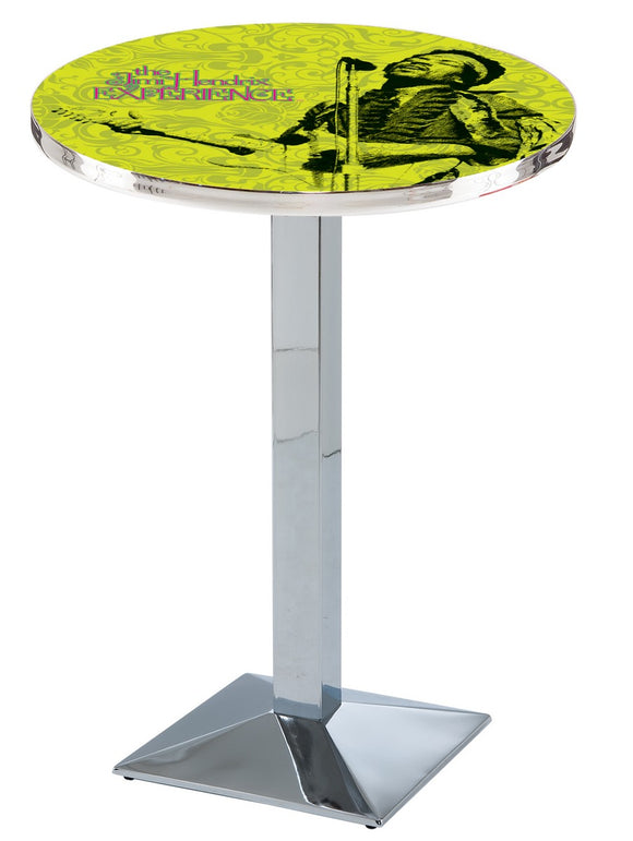 Jimi Hendrix - JHE (Green) L217 - Chrome Pub Table by Holland Bar Stool Co.
