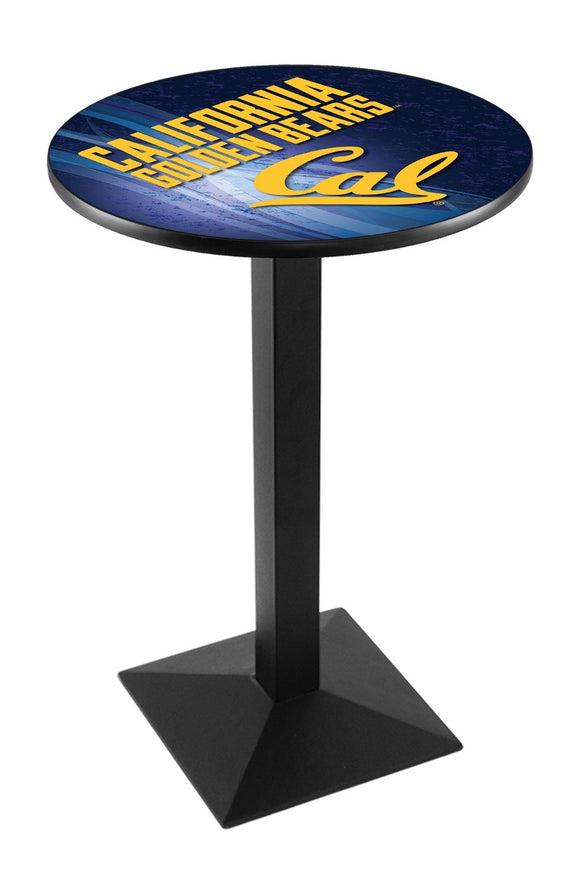 California L217 - Black Wrinkle Pub Table by Holland Bar Stool Co.