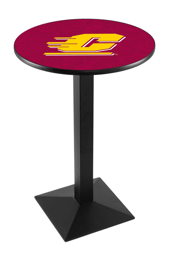 Central Michigan L217 - Black Wrinkle Pub Table by Holland Bar Stool Co.