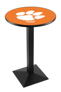 Clemson L217 - Black Wrinkle Pub Table by Holland Bar Stool Co.