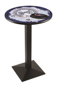 Columbus Blue Jackets L217 - Black Wrinkle Pub Table by Holland Bar Stool Co.