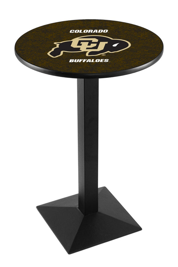 Colorado L217 - Black Wrinkle Pub Table by Holland Bar Stool Co.