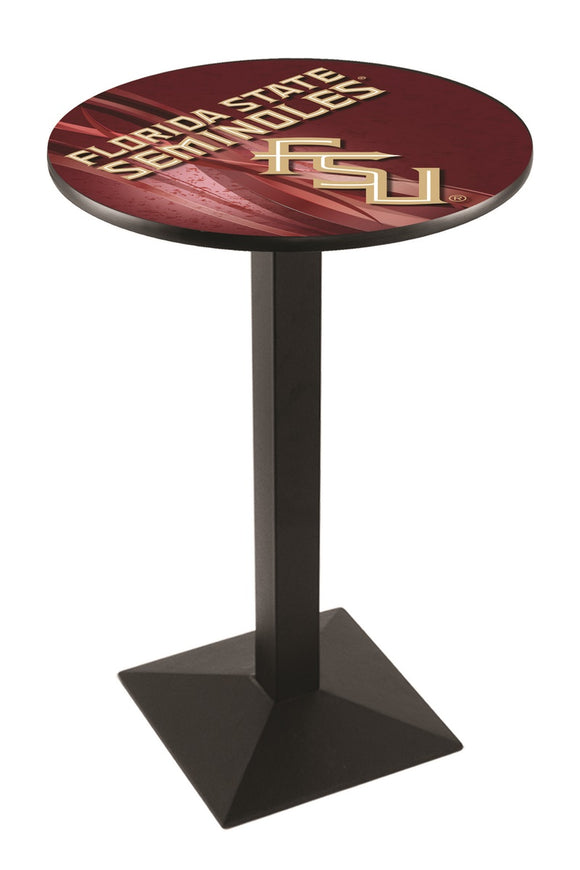 Florida State (Script) L217 - Black Wrinkle Pub Table by Holland Bar Stool Co.