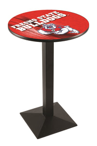 Fresno State L217 - Black Wrinkle Pub Table by Holland Bar Stool Co.