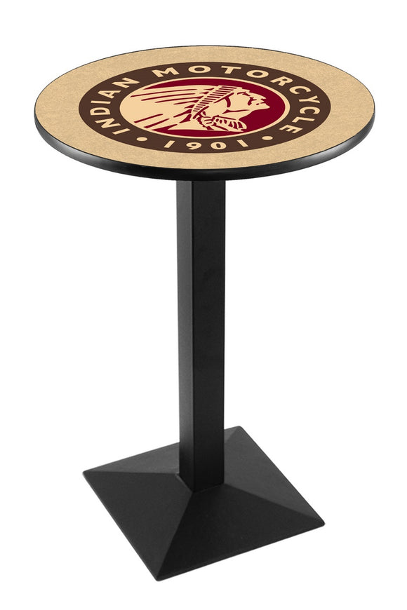 Indian Motorcycle L217 - Black Wrinkle Pub Table by Holland Bar Stool Co.