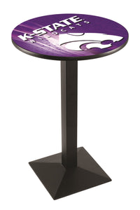 Kansas State L217 - Black Wrinkle Pub Table by Holland Bar Stool Co.