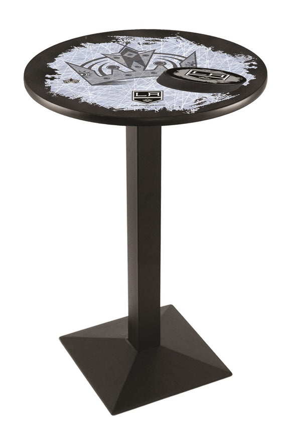 Los Angeles Kings L217 - Black Wrinkle Pub Table by Holland Bar Stool Co.
