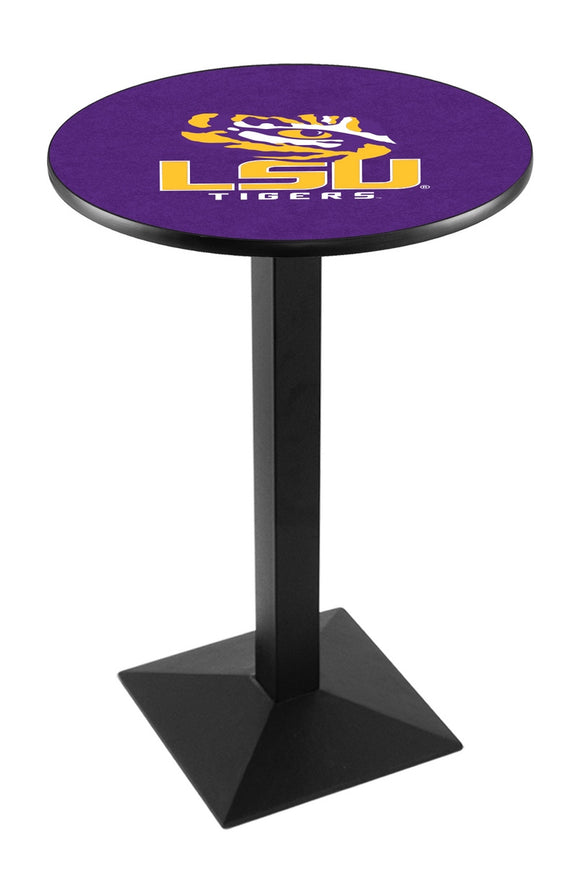 Louisiana State L217 - Black Wrinkle Pub Table by Holland Bar Stool Co.