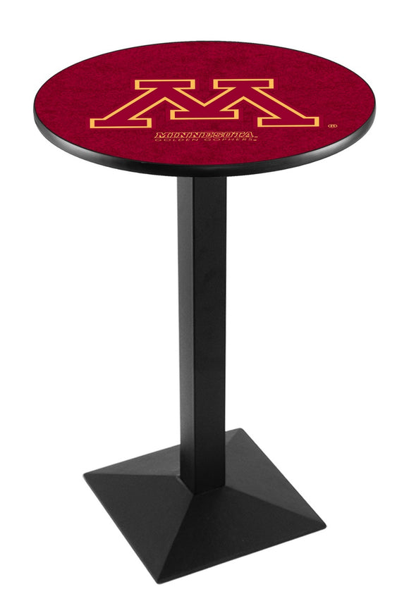 Minnesota L217 - Black Wrinkle Pub Table by Holland Bar Stool Co.