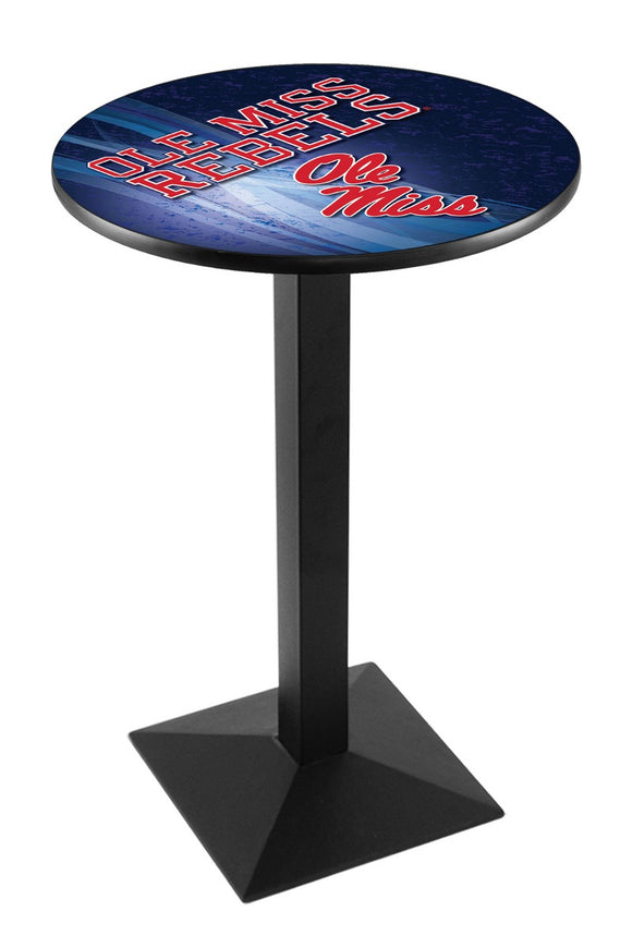 Mississippi L217 - Black Wrinkle Pub Table by Holland Bar Stool Co.