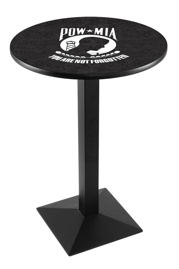 POW/MIA L217 - Black Wrinkle Pub Table by Holland Bar Stool Co.