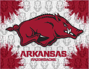 "Arkansas 15"" x 20"" Logo Canvas by Holland Bar Stool Company"