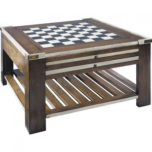 Chess Board Game Table, Ivory by Authentic Models, Chess Board, Authentic Models - The Luxury Man Cave