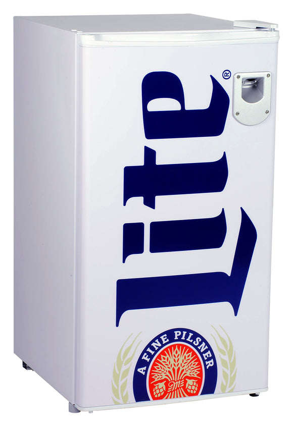 NEW! Miller Lite 90 liter Compresser Fridge by Koolatron, Beverage Refrigerator, Koolatron - The Luxury Man Cave