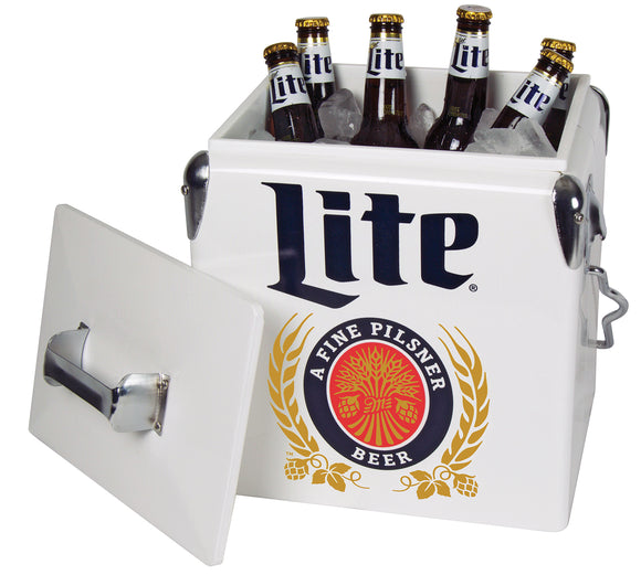 NEW! Miller Light 13L Ice Chest by Koolatron, Ice Chest, Koolatron - The Luxury Man Cave