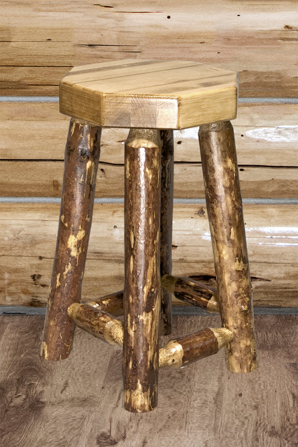 Glacier Country Collection Counter Height Backless Barstool by Montana Woodworks, bar Stools, Montana Woodworks - The Luxury Man Cave