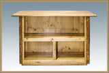 Glacier Country Collection Bar with Foot Rail By Montana Woodworks, Home Bar, Montana Woodworks - The Luxury Man Cave
