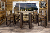Homestead Collection Bistro Table, Stain & Clear Lacquer Finish by Montana Woodworks, Pub Table, Montana Woodworks - The Luxury Man Cave