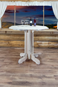 Homestead Collection Pub Table, Ready to Finish by Montana Woodworks, Pub Table, Montana Woodworks - The Luxury Man Cave