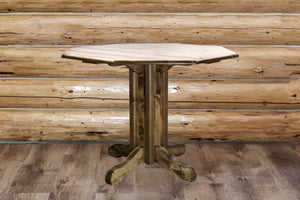 Homestead Collection Counter Height Pub Table, Stain & Lacquer Finish by Montana Woodworks, Pub Table, Montana Woodworks - The Luxury Man Cave