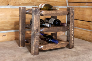 Homestead Collection Countertop Wine Rack, Stain & Clear Lacquer Finish by Montana Woodworks, Wine Rack, Montana Woodworks - The Luxury Man Cave