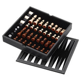 Chess - Checkers - Backgammon with Chessmen Storage by Mainstreet Classics, Chess Board, GLD Products - The Luxury Man Cave