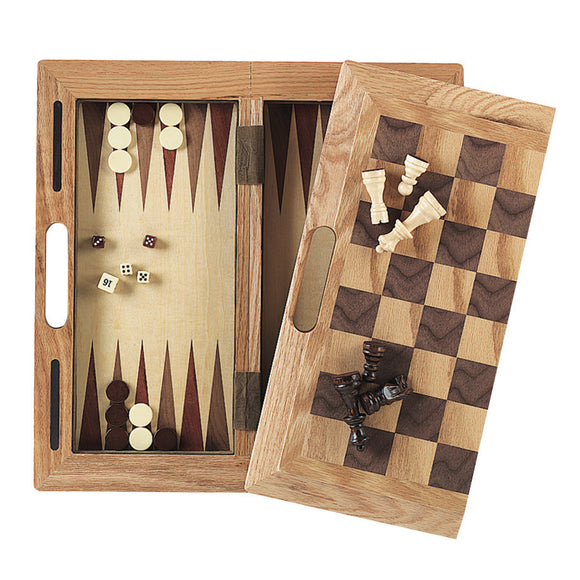 Mainstreet Classics 3-in-1 Wood Game / Chess - Checkers - Backgammon, Chess Board, GLD Products - The Luxury Man Cave