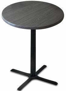 "Black Table w/ 36"" Diameter Indoor/Outdoor Charcoal Top by Holland Bar Stool, Pub Table, Holland Bar Stool Company - The Luxury Man Cave"