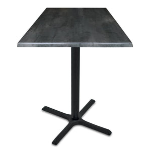 "Black Table w/ 36"" x 36"" Square Indoor/Outdoor Black Steel Top by Holland Bar Stool, Pub Table, Holland Bar Stool Company - The Luxury Man Cave"