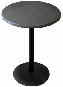 "Black Table with 22"" Diameter Foot and 36"" Diameter Indoor/Outdoor Charcoal Top by Holland Bar Stool, Pub Table, Holland Bar Stool Company - The Luxury Man Cave"