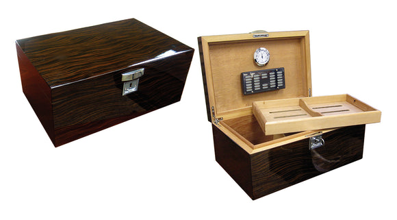 THE Princeton Ebony by Prestige Import Group, cigar humidor, Prestige Import Group - The Luxury Man Cave