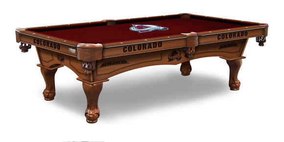 Colorado Avalanche 8' Pool Table by Holland Bar Stool Co., Pool Table, Holland Bar Stool Company - The Luxury Man Cave