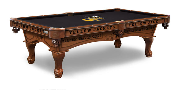 Georgia Tech 8' Pool Table by Holland Bar Stool Co., Pool Table, Holland Bar Stool Company - The Luxury Man Cave
