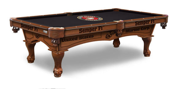 U.S. Marines 8' Pool Table by Holland Bar Stool Company, Pool Table, Holland Bar Stool Company - The Luxury Man Cave