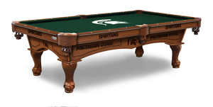 Michigan State 8' Pool Table by Holland Bar Stool Co., Pool Table, Holland Bar Stool Company - The Luxury Man Cave